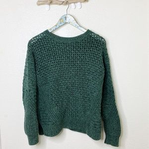 GAP Green Crew Neck Knitted Preppy Sweater Small